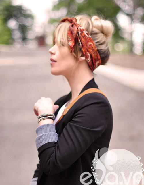 Tóc cực sành điệu với khăn Turban - 9