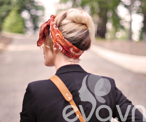 Tóc cực sành điệu với khăn Turban - 14