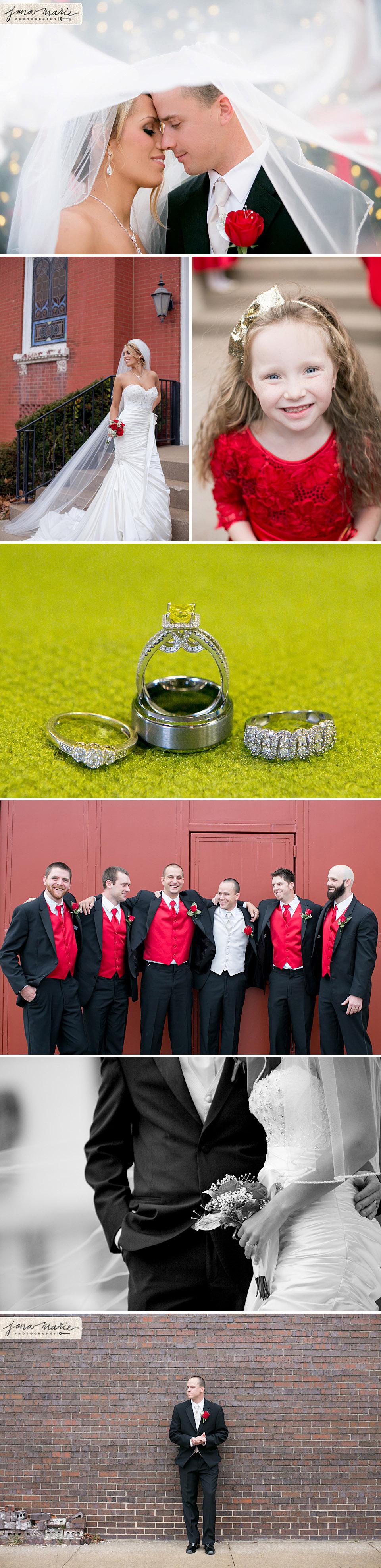 Christmas weddings, Jana Marie Photography, KC wedding, Independence Missouri, Ring shots