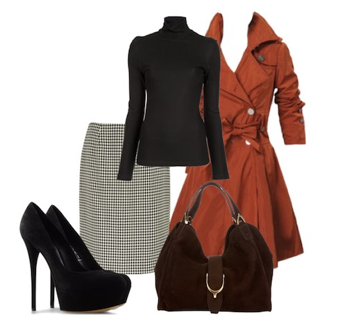 3 kiểu phối đồ phong cách với chân váy houndstooth 5