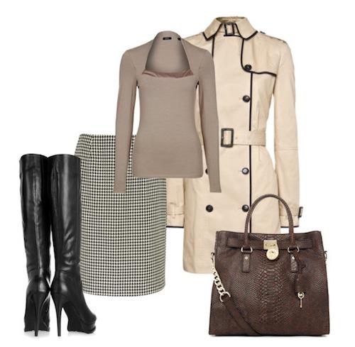 3 kiểu phối đồ phong cách với chân váy houndstooth 6