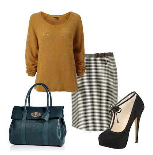 3 kiểu phối đồ phong cách với chân váy houndstooth 7