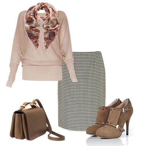 3 kiểu phối đồ phong cách với chân váy houndstooth 8