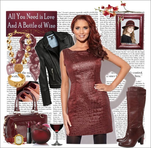Đón năm mới nồng nàn với màu huyết dụ, Thời trang, mau huyet du, mix do mau huyet du, phong cach voi mau huyet du, mix do nam moi