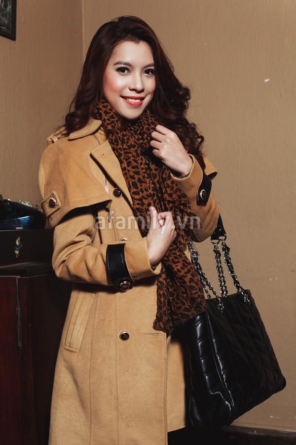 Duyên dáng và ấm áp cùng áo khoác công sở 4