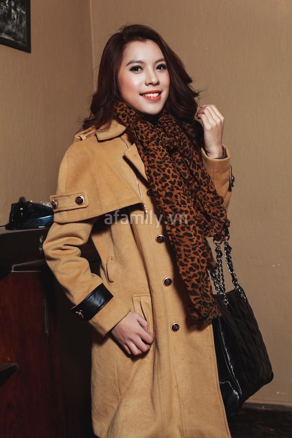 Duyên dáng và ấm áp cùng áo khoác công sở 5