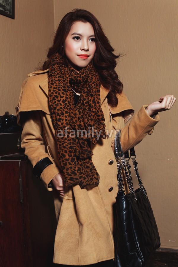 Duyên dáng và ấm áp cùng áo khoác công sở 6