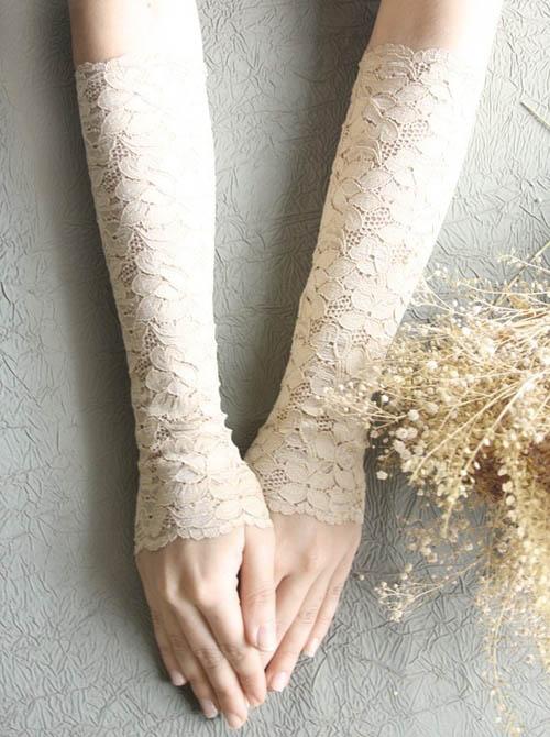 Găng tay ren tinh tế, thanh lịch cho cô dâu - 10