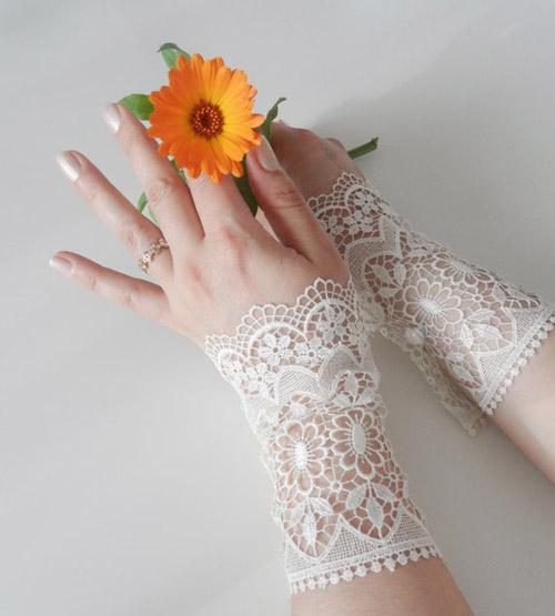 Găng tay ren tinh tế, thanh lịch cho cô dâu - 11