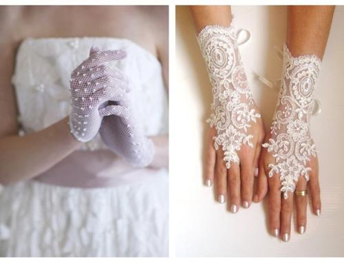 Găng tay ren tinh tế, thanh lịch cho cô dâu - 1