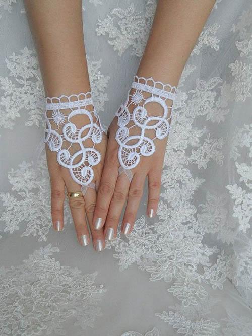 Găng tay ren tinh tế, thanh lịch cho cô dâu - 13