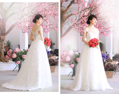4 mẫu váy 'cứu tinh' cho cô dâu ngực lép - 12