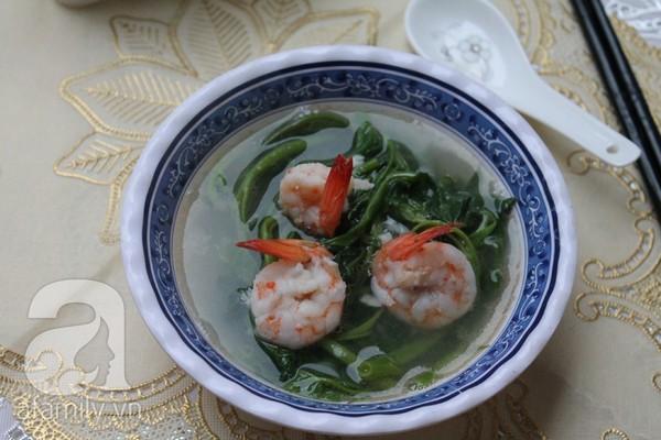Giản dị ngon cơm món canh rau muống nấu tôm 11