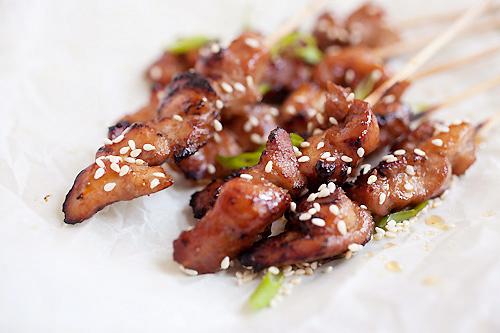 Thịt gà tẩm mật ong nướng xiên - 1