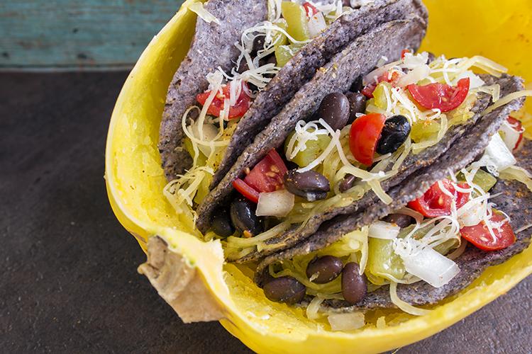 spaghetti squash tacos recipe