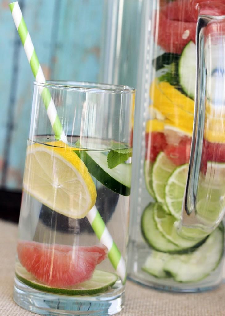 slim down detox water recipe