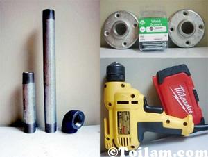 cách làm,hướng dẫn ,diy,handmade,giá,để đồ,ống nước,bar,clup