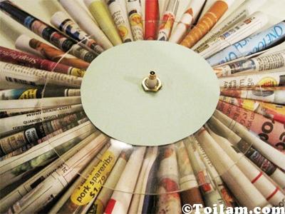 Cách,làm,hướng dẫn,Đồng hồ,giấy,khéo tay,hay làm,Diy,toilam.com