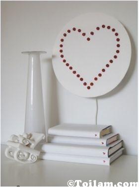 làm đèn,trái tim,lãng mạn,cho phòng,ngủ bước,bóng đèn,hình,cách làm,ngủ,khéo tay