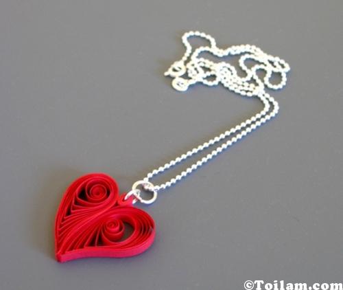 Cách làm hình trái tim siêu dễ thương từ giấy xoắn