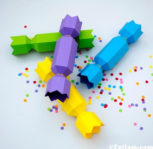 Cách làm hộp quà hình cây kẹo