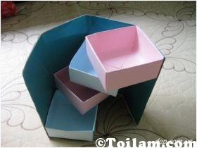 có thể,hộp quà,đa năng,giấy,hình,cách làm,hộp quà,đa năng,nhiều ngăn,kéo