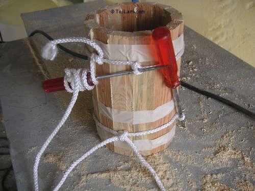 cách làm ly bằng gỗ cực yêu bước 4