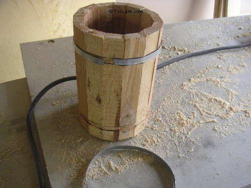 cách làm ly bằng gỗ cực yêu bước 6