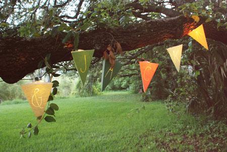 cách làm đèn sân vườn từ giấy màu