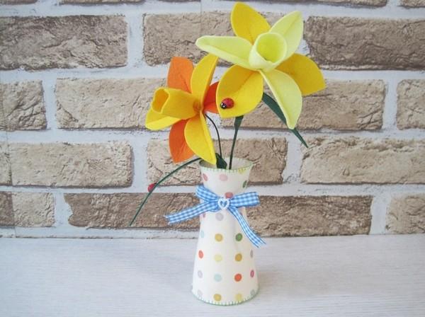 Làm hoa vải cực xinh trang trí nhà mình 9