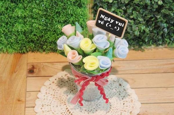 Làm hoa vải lãng mạn trang trí nhà thêm xinh 8