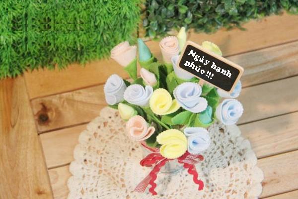 Làm hoa vải lãng mạn trang trí nhà thêm xinh 9