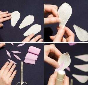 Làm hoa mộc lan giấy đẹp như hoa thật 3