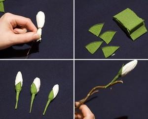 Làm hoa mộc lan giấy đẹp như hoa thật 6