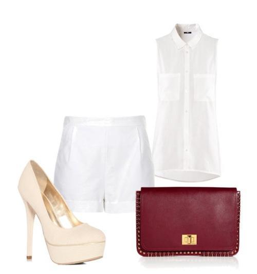 9 món đồ, 5 kiểu phối thời thượng với shorts vải trắng