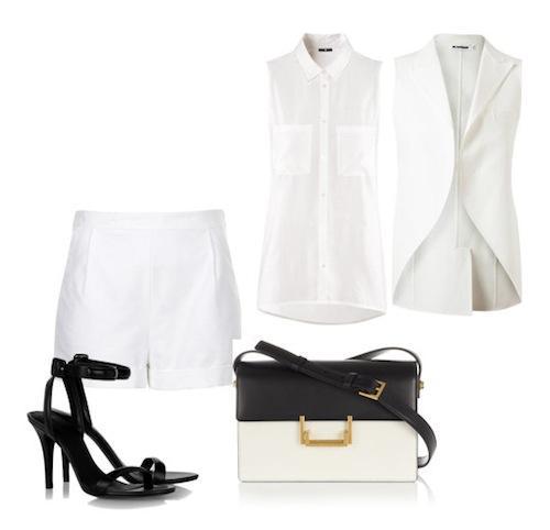 5 cách phối đồ với shorts vải trắng