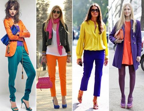 Bí quyết mix màu quần áo chuẩn như fashionista