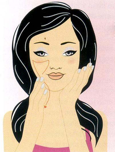 Mẹo mát xa giúp căng da mặt, Làm đẹp, mat xa, cang da mat, bao phu nu, lam dep, thoi trang