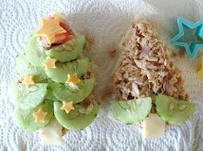 Bánh sandwich hình cây thông Noel đẹp mắt ngon miệng 10