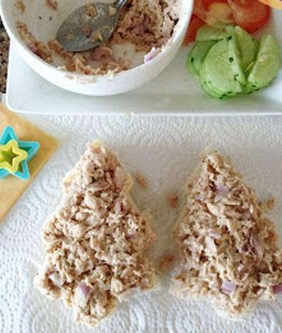 Bánh sandwich hình cây thông Noel đẹp mắt ngon miệng 8