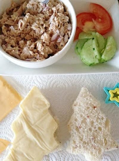Bánh sandwich hình cây thông Noel đẹp mắt ngon miệng 6