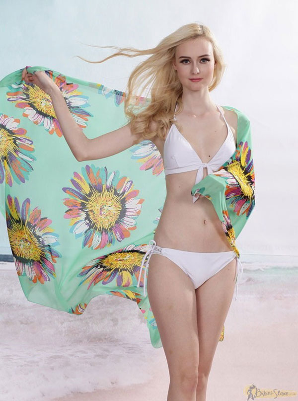 Tạo váy đi biển bằng sarong, Đồ lót - đồ bơi, Thời trang, tho trang, thời trang, thoi trang tre, sarong, vay, khan, thoi trang bien