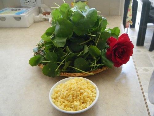 Rau má và đậu xanh có tác dụng thanh nhiệt, giải độc.