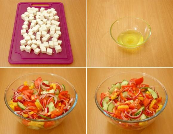 Làm salad Hy Lạp mát lành chỉ 2 bước đơn giản
