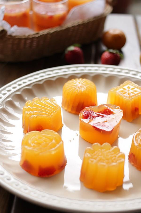 Cách làm thạch cam vừa đẹp vừa ngon 7