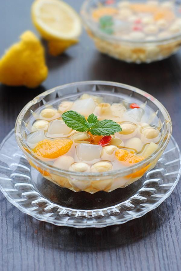 Ngày nắng ăn thạch dừa trái cây ngọt mát 5
