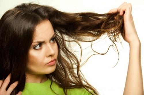 tóc bết dầu