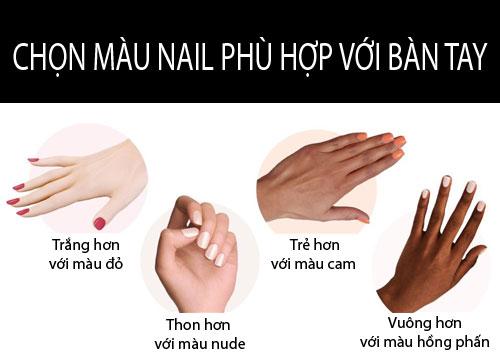 chọn màu nail