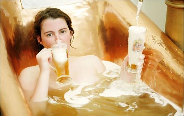 làm đẹp nhờ bia