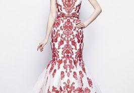 Váy cưới thêu chỉ màu nổi bật